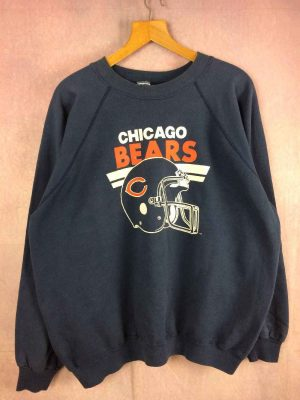 Sweat CHICAGO BEARS, Véritable Vintage Années 80, Made in USA, Marque Trench, Buffalo NY, Unisex Sweater SweatShirt NFL Football américain