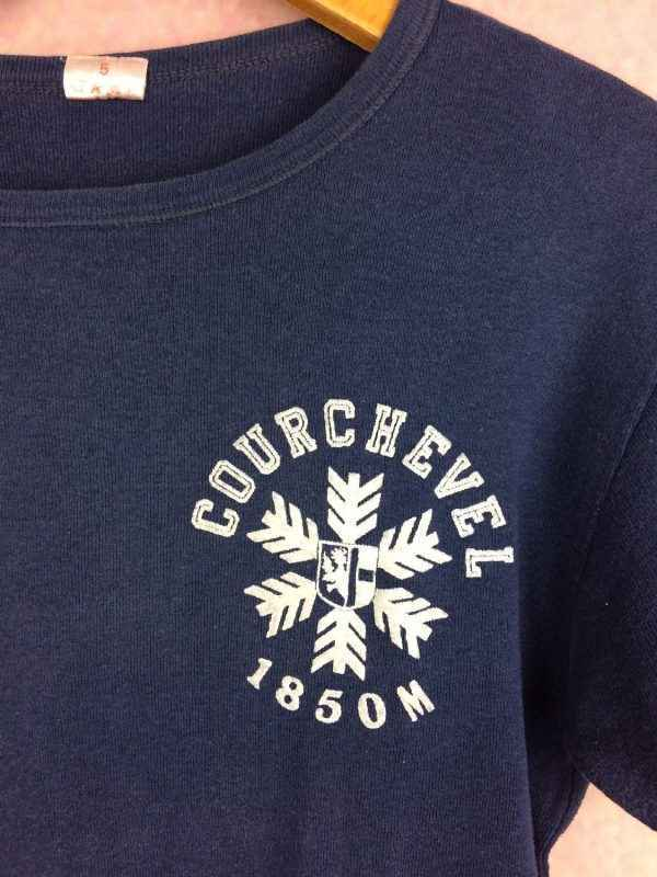 COURCHEVEL T Shirt Vintage 80s Made in France Gabba.. 3 - COURCHEVEL T-Shirt Vintage 80s Made in France