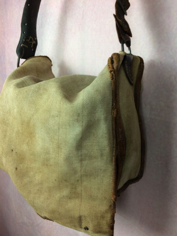 Gibeciere Chasse Sacoche Cuir Vintage 60s Gabba Vintage 3 - Gibecière Chasse Sacoche Cuir Vintage 60s