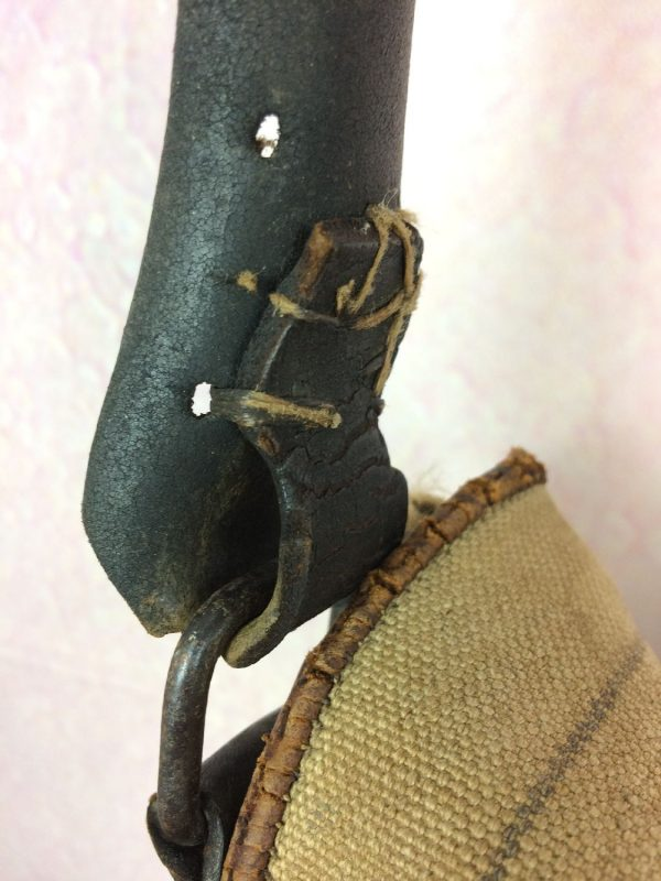 Gibeciere Chasse Sacoche Cuir Vintage 60s Gabba Vintage 5 - Gibecière Chasse Sacoche Cuir Vintage 60s