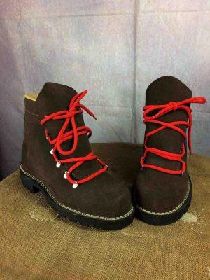 Chaussure Sécurité HRO S2, Vintage mais jamais portées, Look chaussures de randonnée, en cuir, semelles crantées EUR: 41, Old School