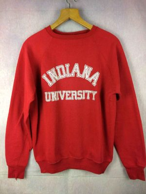 Sweat INDIANA UNIVERSITY, Véritable Vintage Années 80, Made in USA, Marque Wolf, Cincinnati Ohio, Unisex Sweater SweatShirt
