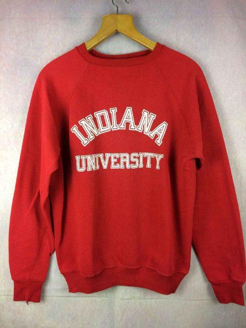 Sweat INDIANA UNIVERSITY, Véritable Vintage Années 80, Made in USA, Marque Wolf, Cincinnati Ohio, Unisex Sweater SweatShirt