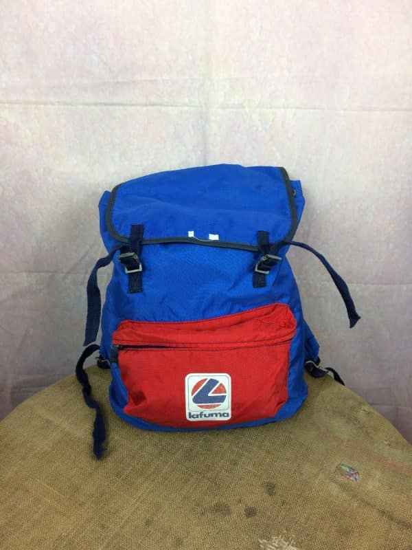 LAFUMA Sac A Dos Vintage 80s Made in France Gabba Vintage 5 - LAFUMA Sac A Dos Vintage 80s Made in France