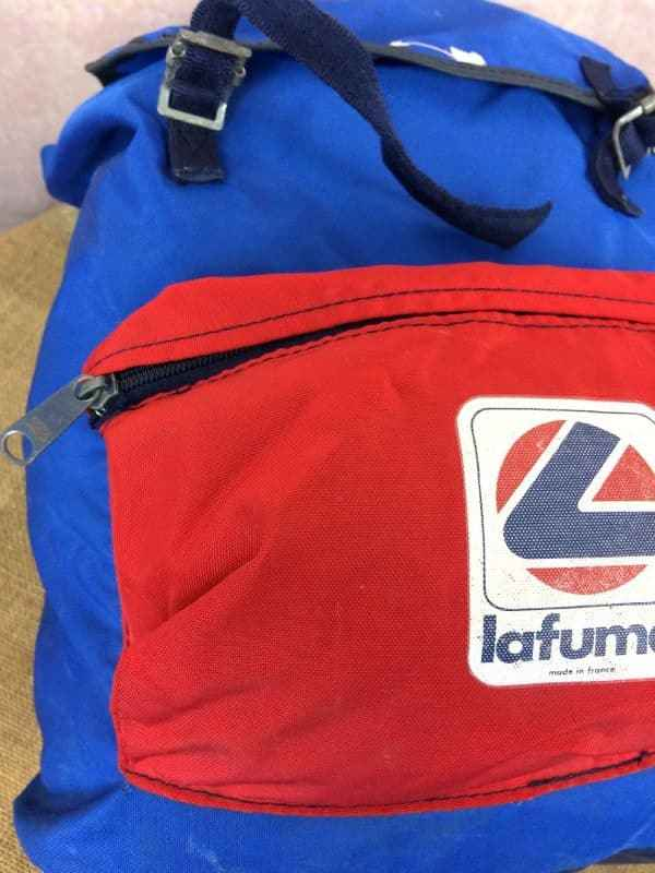 LAFUMA Sac A Dos Vintage 80s Made in France Gabba Vintage 8 - LAFUMA Sac A Dos Vintage 80s Made in France
