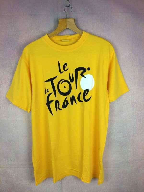 T-Shirt LE TOUR DE FRANCE, Licence Officielle, Pur Coton, Maillot jaune, Cyclisme, Vélo