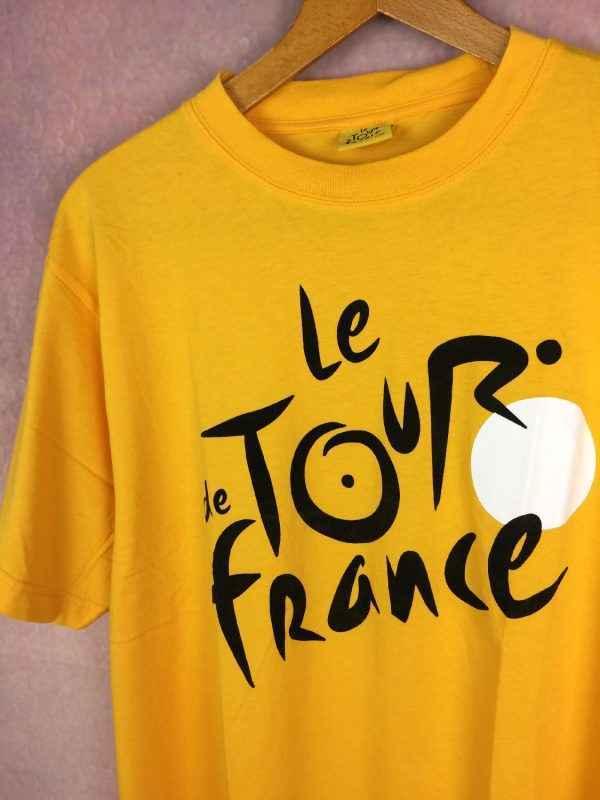 LE TOUR DE FRANCE T Shirt Official Jaune Gabba Vintage 3 - LE TOUR DE FRANCE T-Shirt Official Jaune