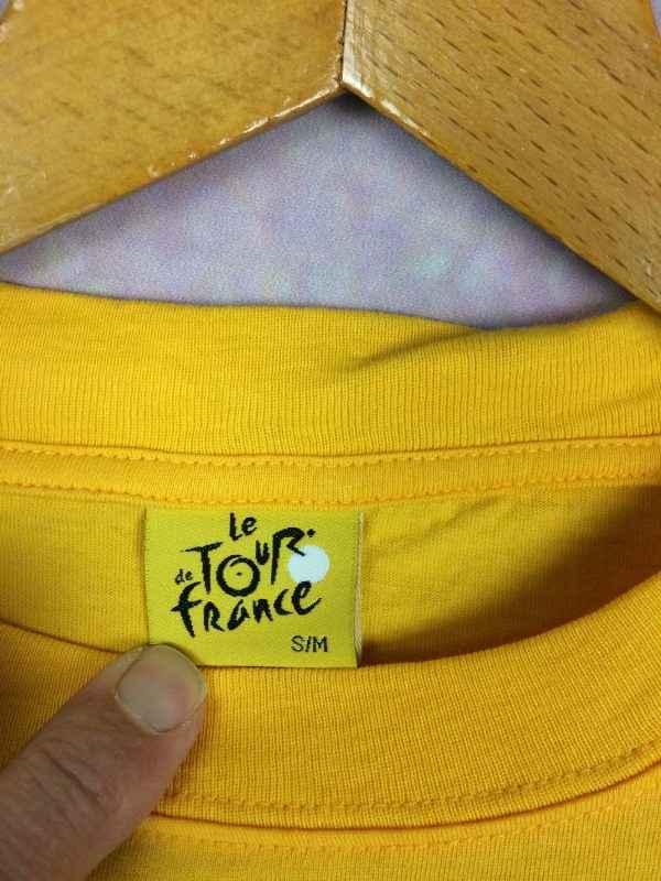 LE TOUR DE FRANCE T Shirt Official Jaune Gabba Vintage 4 - LE TOUR DE FRANCE T-Shirt Official Jaune