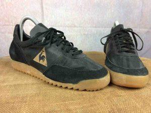 Sneakers Le Coq Sportif, modèle Omega,Véritable vintage années 80s, Made In France, Neuf, Jamais Porté, NOS Deadstock Basket Rare