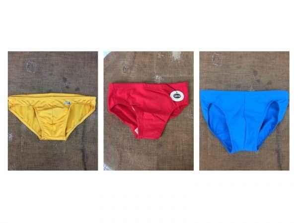 Maillot de Bain homme vintage 80s Lycra Uni Gabba Vintage 79 - Maillot de Bain homme vintage 80s Lycra Uni
