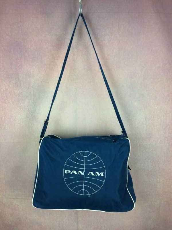 PANAM Sac a Bandouliere Vintage 70s Bagage Gabba Vintage 4 - PAN AM Sac à Bandoulière Vintage 70s Bagage