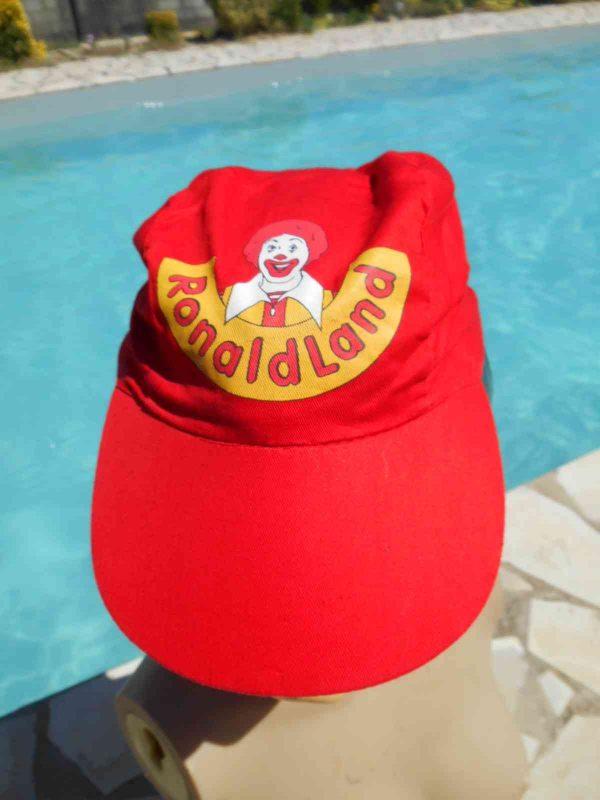 Casquette RONALD LAND, véritable vintage année 90s, Made in China, 100% coton, Top Cap Gorra Hat Macdonald's