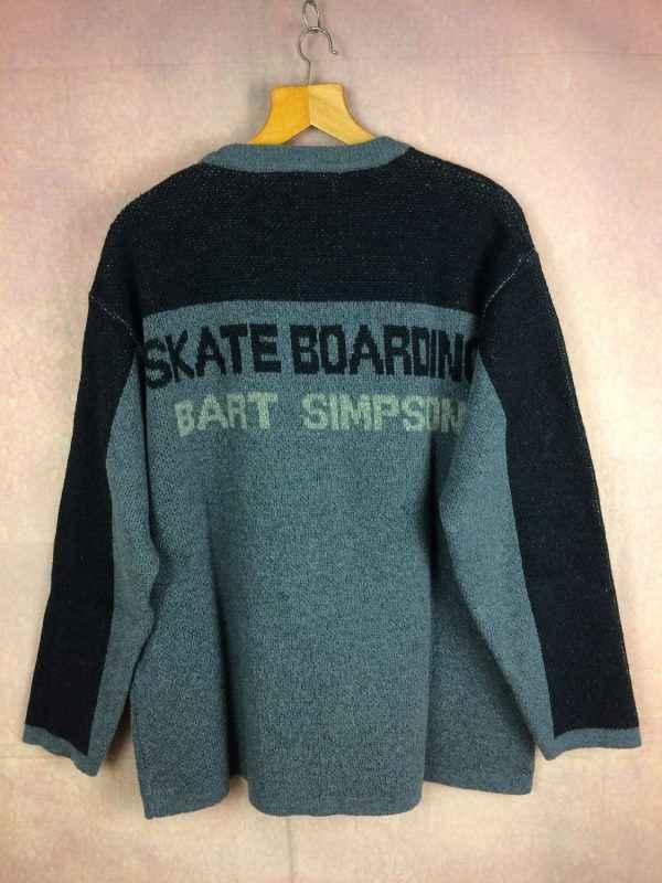 SIMPSONS Pull Vintage 2004 Bart Skateboarding Gabba.. 3 - SIMPSONS Pull Vintage 2004 Bart Skateboarding