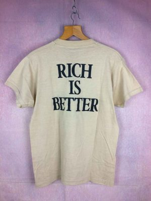 T Shirt Teachers Scotch Rich is Better 1982 veritable vintage annees 80s Marque Screen Stars Made in USA Whisky Alcool Publicite 4 - Home