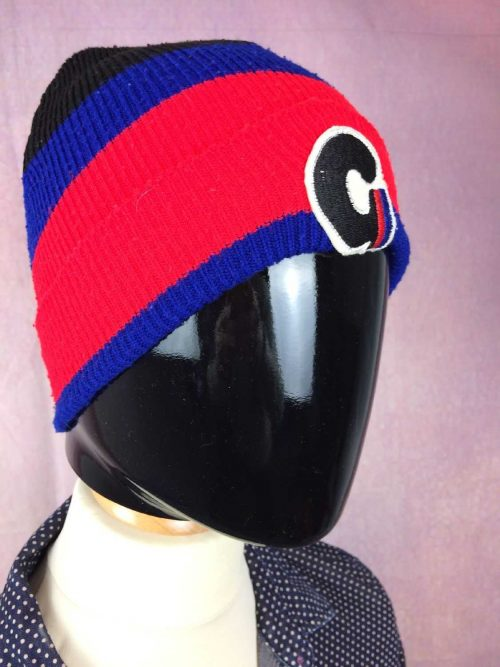 VINTAGE Années 80 Bonnet, 100% acrylic, Ski Neige Unisex, Beanie Hat Surf Old School Sport Punk Alternative HC