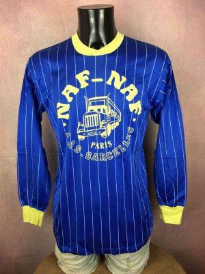 Maillot AAS SARCELLES, Floqué N°5, Sponsor Naf Naf Paris, Porté en match, Véritable vintage Année 80s, Football Jersey Trikot Camiseta