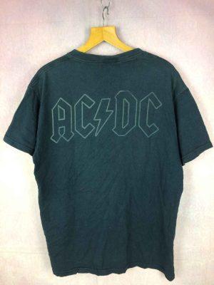 ACDC T Shirt Black Ice Album Dos Imprime Gabba Vintage 1 - Home
