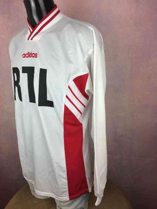 ADIDAS Maillot Coupe de France Vintage 90s Porte N°7 3 - ADIDAS Maillot Coupe de France Vintage 90s Porté N°7 Manches Longues Munich RTL Football