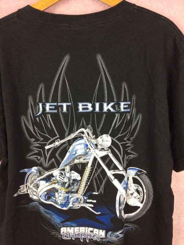 AMERICAN CHOPPER T Shirt Jet Bike Vintage 00s USA Gabba.. 1 - AMERICAN CHOPPER T-Shirt Jet Bike Vintage 00s USA