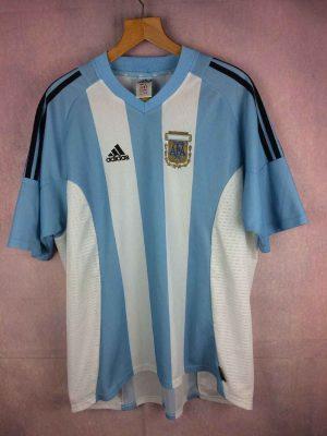 Maillot ARGENTINE , saison 2002 2004, Version Home, Marque Adidas daté du 02/02, Technologie Climalite AFACopa Jersey Camiseta Argentina