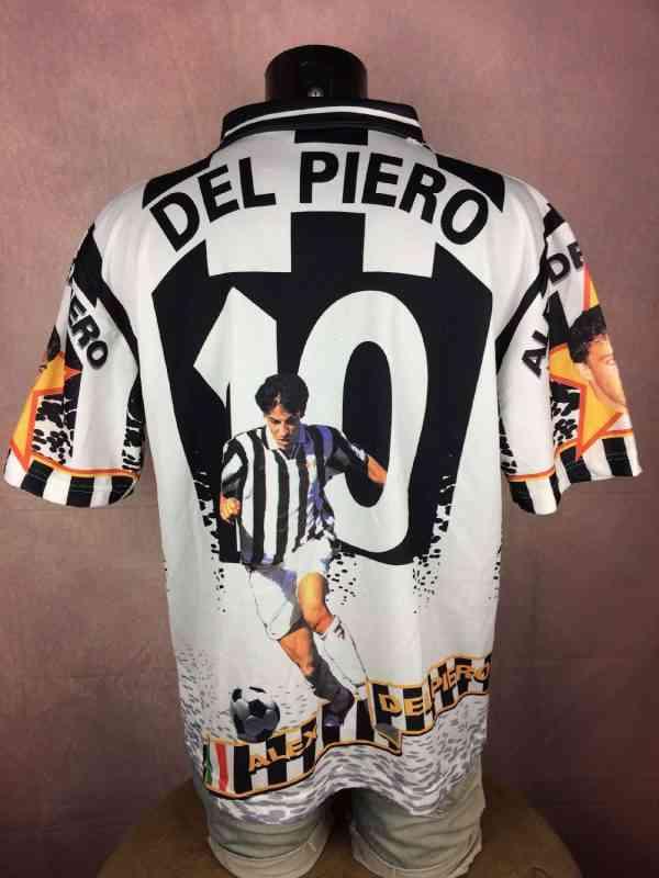 DEL PIERO Maillot 10 Supporter Fan Vintage 90s Juventus.. 1 - DEL PIERO Maillot #10 Supporter Fan Vintage 90s Juventus Calcio Design Football