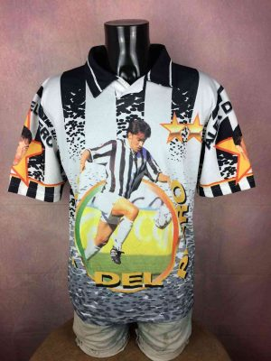 Maillot DEL PIERO N°10, Véritable vintage années 90s, Juventus, Made in Italy, Serie A, Calcio, Supporter Fan Jersey Camiseta Trikot Football