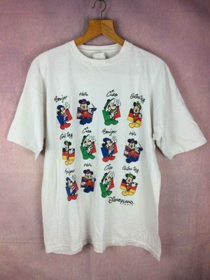 T Shirt DISNEYLAND Paris, Official licence Disney Fashions, Véritable vintage années 90s, Made in Portugal, Pur coton,  Parc à thèmes Euro France