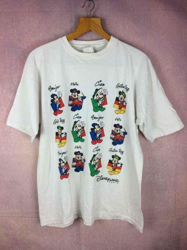 T Shirt DISNEYLAND Paris, Official licence Disney Fashions, Véritable vintage années 90s, Made in Portugal, Pur coton, Parc à thèmes Euro France
