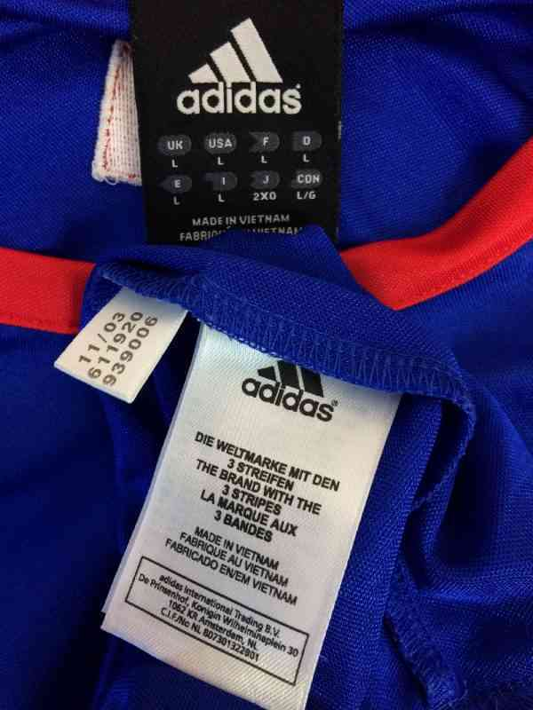 FRANCE Maillot Entrainement 2003 2004 Adidas Euro FFF.. 1 - FRANCE Maillot Entrainement 2003 2004 Adidas Euro FFF Football