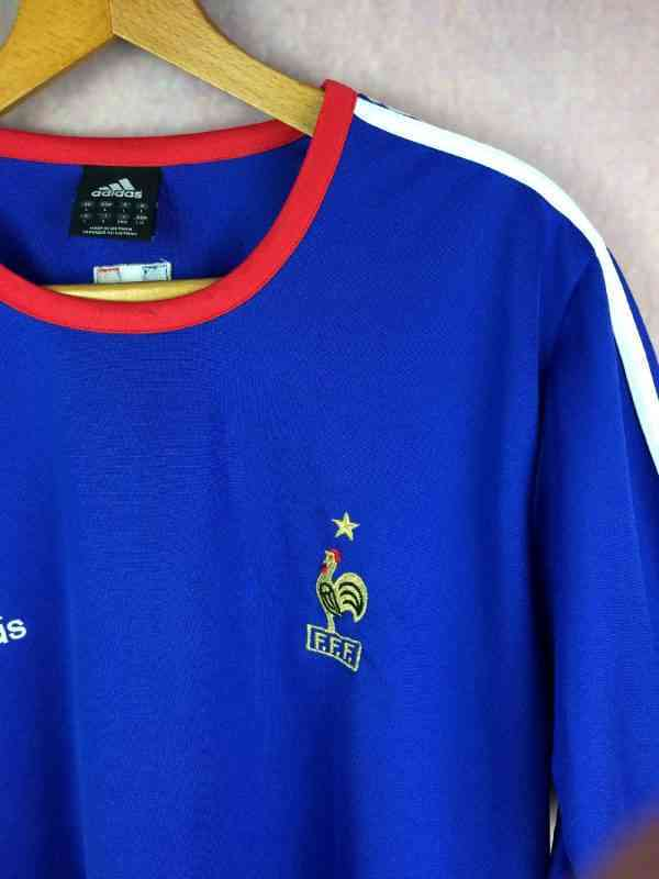 FRANCE Maillot Entrainement 2003 2004 Adidas Euro FFF.. 3 - FRANCE Maillot Entrainement 2003 2004 Adidas Euro FFF Football