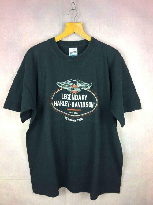 T-ShirtHARLEY DAVIDSON, Version Legendary, Daté de 1994, véritable vintage années 90s, Marque Screen Stars, Styled in USA, Pur coton, Parfum USA Moto Biker