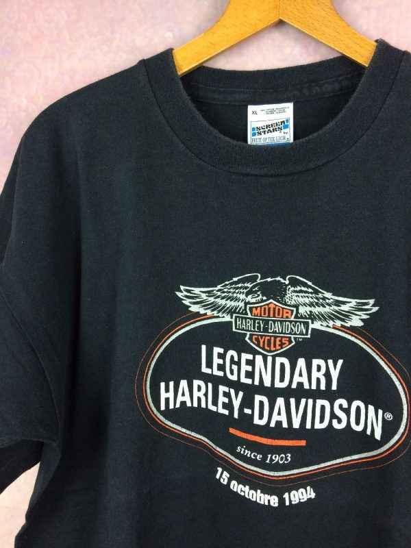 HARLEY DAVIDSON T Shirt Legendary 1994 Vintage 90s Parfum 3 - HARLEY DAVIDSON T-Shirt Legendary 1994 Vintage 90s Parfum