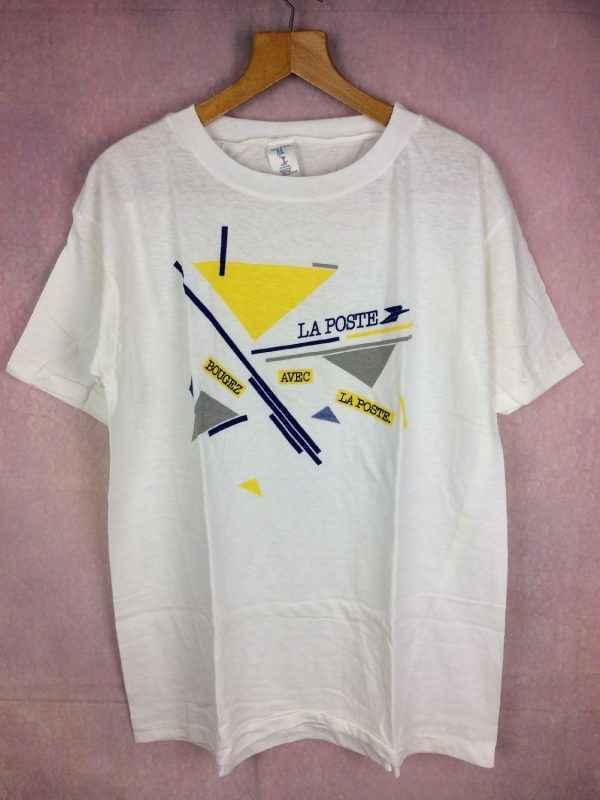 LA POSTE T Shirt Bougez avec la poste Annee 1986 Vintage 80s 7 - LA POSTE T-Shirt Bougez avec la poste Année 1986 Vintage 80s