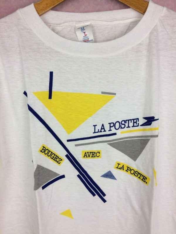 LA POSTE T Shirt Bougez avec la poste Annee 1986 Vintage 80s 8 - LA POSTE T-Shirt Bougez avec la poste Année 1986 Vintage 80s