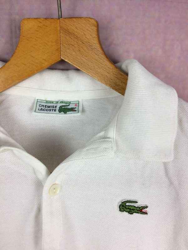 LACOSTE Polo Vintage Annees 80s Made in France Devanlay Femme 2 - LACOSTE Polo Vintage Années 80s Made in France Devanlay Femme