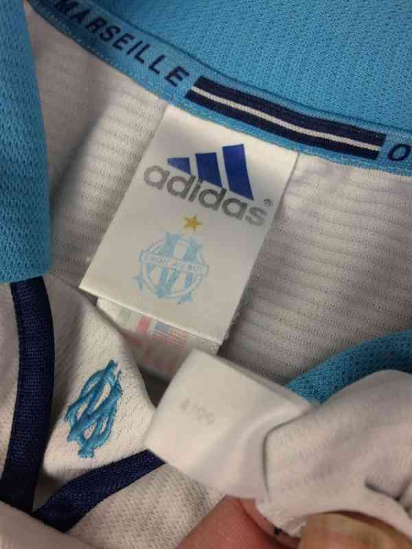 MARSEILLE Maillot 1999 2000 Vintage Adidas Sans Sponsor.. 1 - MARSEILLE Maillot 1999 2000 Vintage Adidas Sans Sponsor OM Football Ligue 1
