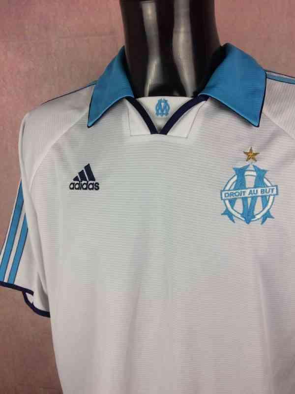 MARSEILLE Maillot 1999 2000 Vintage Adidas Sans Sponsor.. 3 - MARSEILLE Maillot 1999 2000 Vintage Adidas Sans Sponsor OM Football Ligue 1