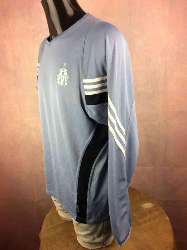 MARSEILLE Maillot 2003 2004 Adidas Entrainement Coupe de 5 - MARSEILLE Maillot 2003 2004 Adidas Entrainement Coupe de la Ligue OM Football Ligue 1