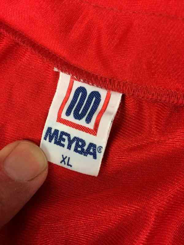 MEYBA Maillot N°14 Vintage Annees 80s Made in Spain 5 rotated - MEYBA Maillot N°14 Vintage Années 80s Made in Spain Barcelona Patch Football