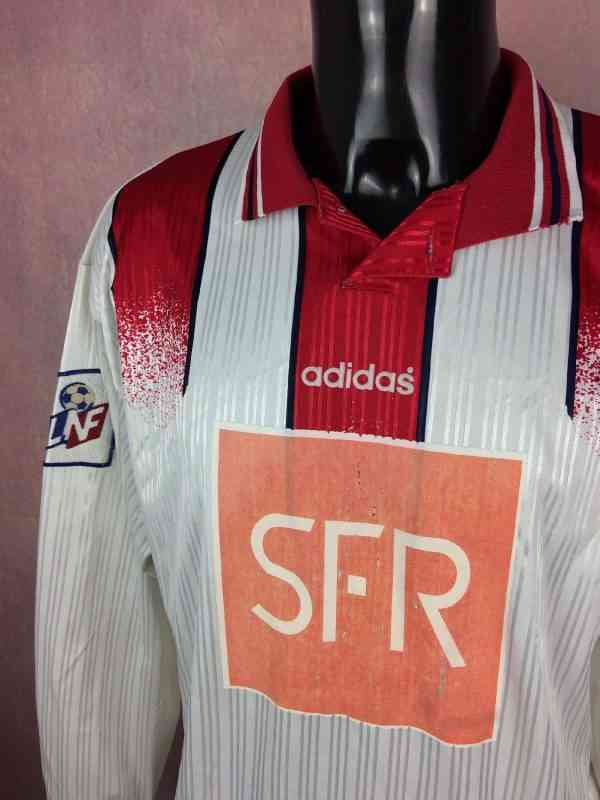 Maillot LILLE Coupe de la Ligue 1996 1997 Prepare pour.. 3 - Maillot LILLE Coupe de la Ligue 1996 1997 Préparé pour Franck Turpin N°23 Adidas Football LOSC