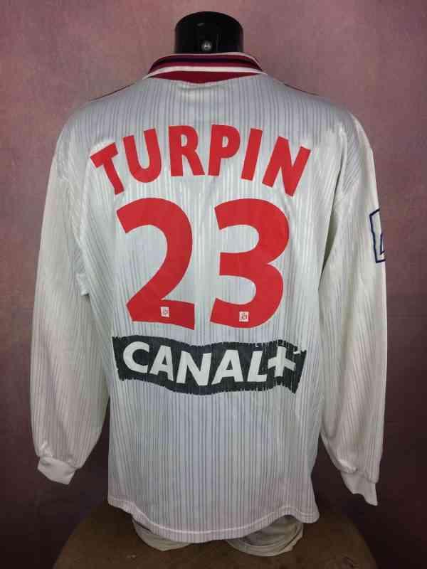 Maillot LILLE Coupe de la Ligue 1996 1997 Prepare pour.. 5 - Maillot LILLE Coupe de la Ligue 1996 1997 Préparé pour Franck Turpin N°23 Adidas Football LOSC