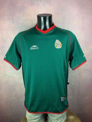 Maillot MEXIQUE, Saison 2002 2003, Version Home, Marque Atletica, Publicité Coca Cola, Patch Cousu, vintage années 00, World Cup, Jersey Camiseta Mexico