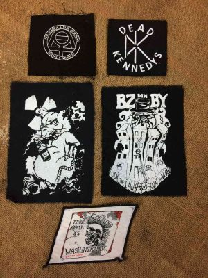 PATCH Punk, Lot x5, A coudre, The Exploited, Dead Kennedys, Polikarpa y Sus Viciosas, BZ din BY, Rat, Police, Anarchy, Squat DIY Patch Crust Hardcore