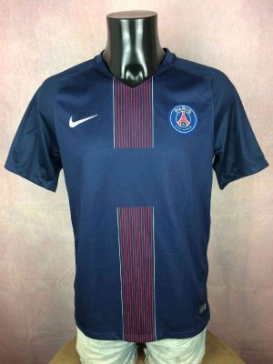 Maillot PSG, Saison 2016 2017, Version Home, Marque Nike, Technologie Dri-Fit, Sans Sponsor, Paris Saint Germain, Ligue 1 Jersey Camiseta Football