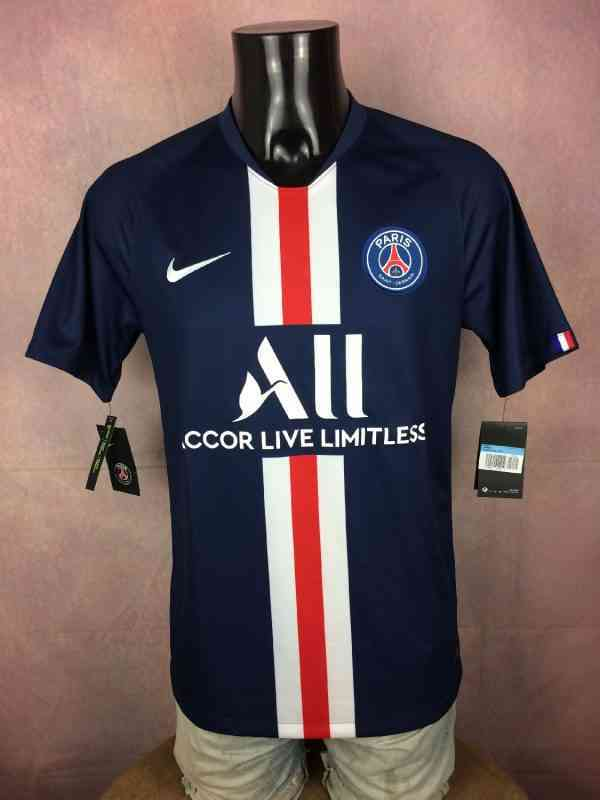 Maillot PSG, Saison 2019 2020, Version Home, Marque Nike, Sponsor Accor Live Limitless, Standard Fit, Paris Saint Germain, Neuf avec Etiquettes, Ligue 1 Jersey Camiseta Football