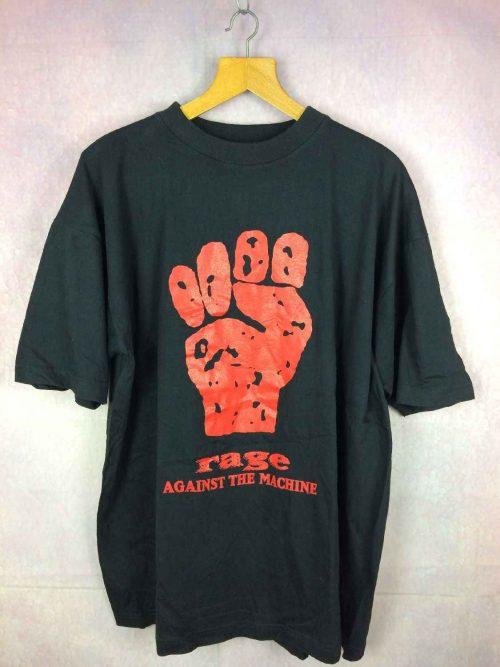T-Shirt Rage Against The Machine, Véritable vintage années 90s, Dos imprimé, Pur coton, Rare Version, Peu Porté, Rock Metal Alternative
