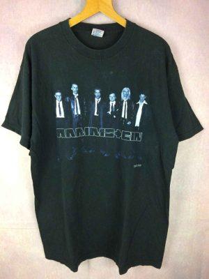 T Shirt RAMMSTEIN, Family Values Tour 1998, Véritable vintage années 90s, Dos imprimé avec dates tournée, Licence Officielle, Marque Delta, coton, Metal Indus