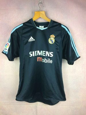Maillot REAL MADRID, saison 2003 2004, version Away, de marque Adidas daté du 01/04, Technologie ClimaLite, Véritable vintage années 00s, LFP Patch Espagne Liga Jersey Camiseta Trikot Football