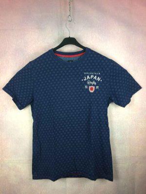 T-Shirt RUCKFIELD, Edition Japan Rugby, Dos brodé avec carte Japon et Pride and Honor, Sebastien Chabal, Pur coton, Quinze XV Team