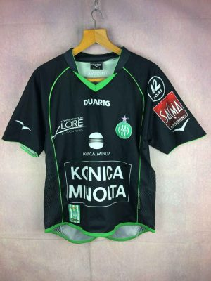 Maillot SAINT ETIENNE, Saison 2004 2005, Version Away, Marque Duarig, Technologie Duaclim, ASSE Vert Loire France Ligue 1